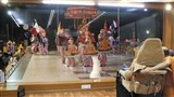 Youths from Atladra (Vadodara) perform dances before Swamishri