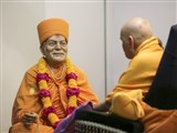 Swamishri performs puja of Brahmaswarup Yogiji Maharaj on his diksha day in the evening