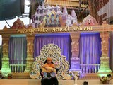 Swamishri in the Sarangpur Mandir Shatabdi Mahotsav udghosh assembly