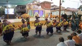 Youths perform a cultural dance before Swamishri