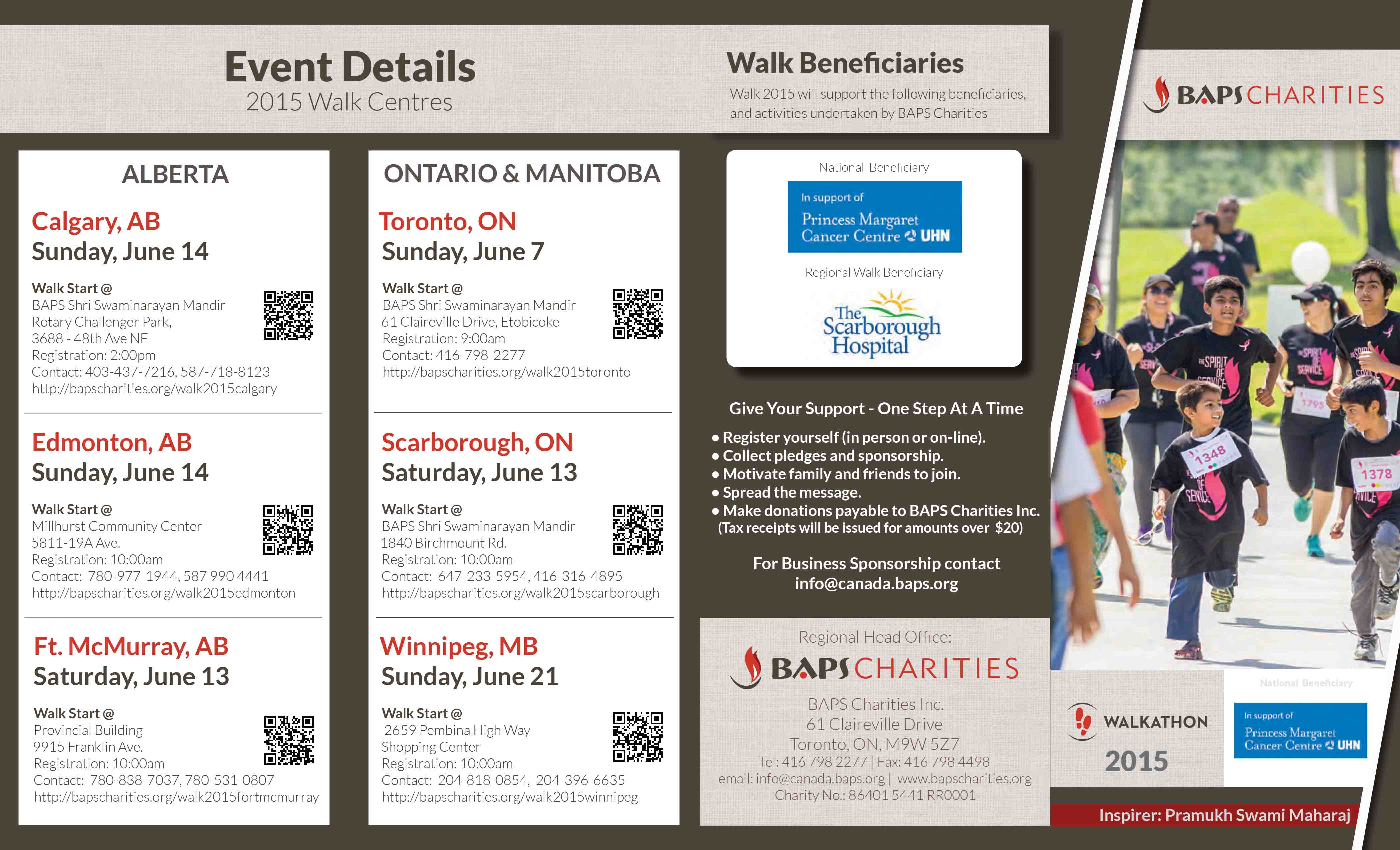 BAPS Charities Walkathon in CANADA