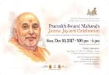 Brahmaswarup Pramukh Swami Maharaj Birthday Celebration
