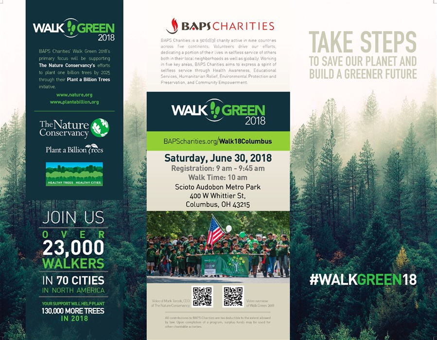 BAPS Charities Walk Green 2018