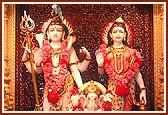 Shri Shiv-Parvatiji and Shri Ganapatiji
