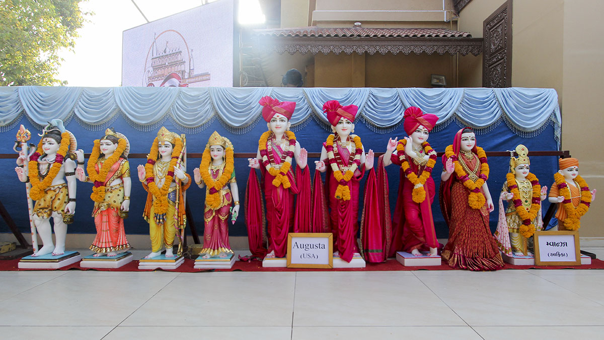 Murtis to be consecrated for BAPS Shri Swaminarayan Mandir, Augusta, GA, USA and Mwanza, Tanzania