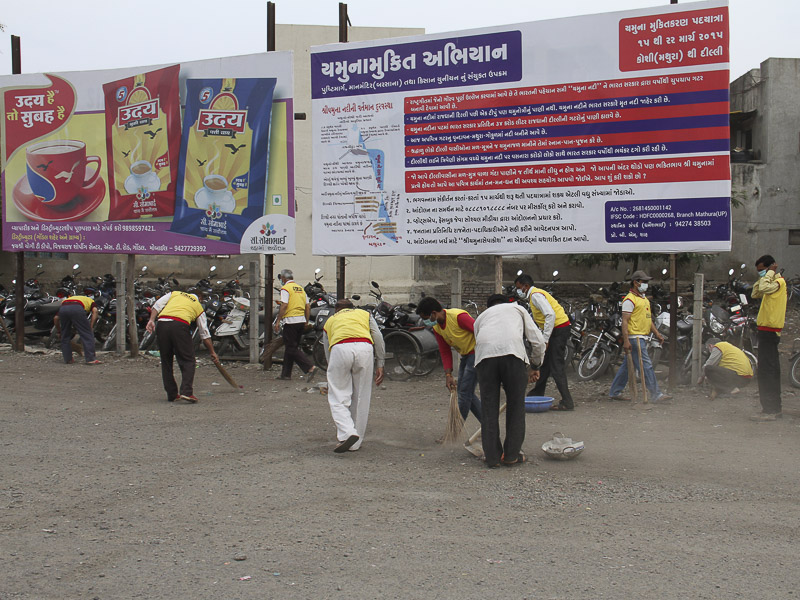 BAPS Cleanliness Drive, Gondal