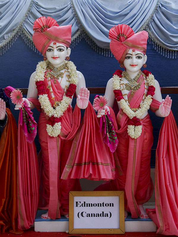 Murtis to be consecrated for BAPS Shri Swaminarayan Mandir, Edmonton, Canada
