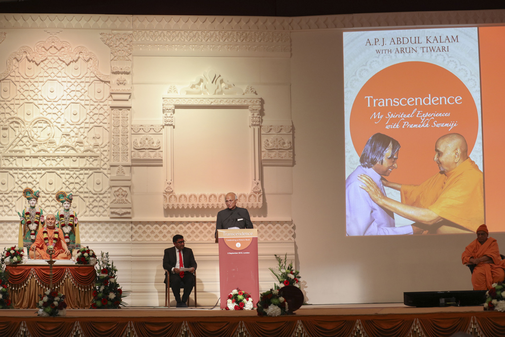 The High Commissioner of India to the UK, HE Ranjan Mathai, paying tribute to Dr APJ Abdul Kalam and 'Transcendence'