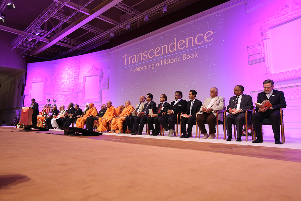 UK Launch of 'Transcendence' by the High Commissioner of India, BAPS senior swamis, and distinguished guests