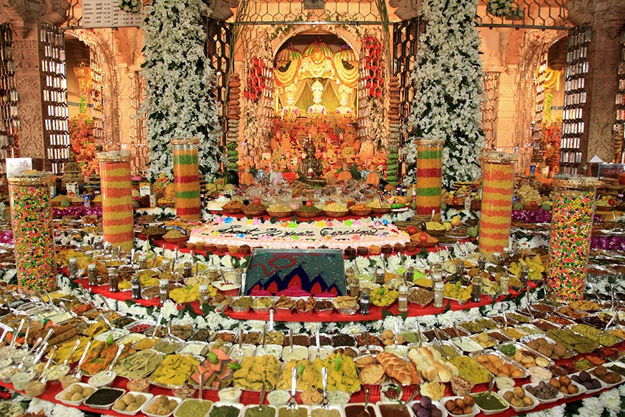 Annakut Celebration at BAPS Shri Swaminarayan Mandir, Surat