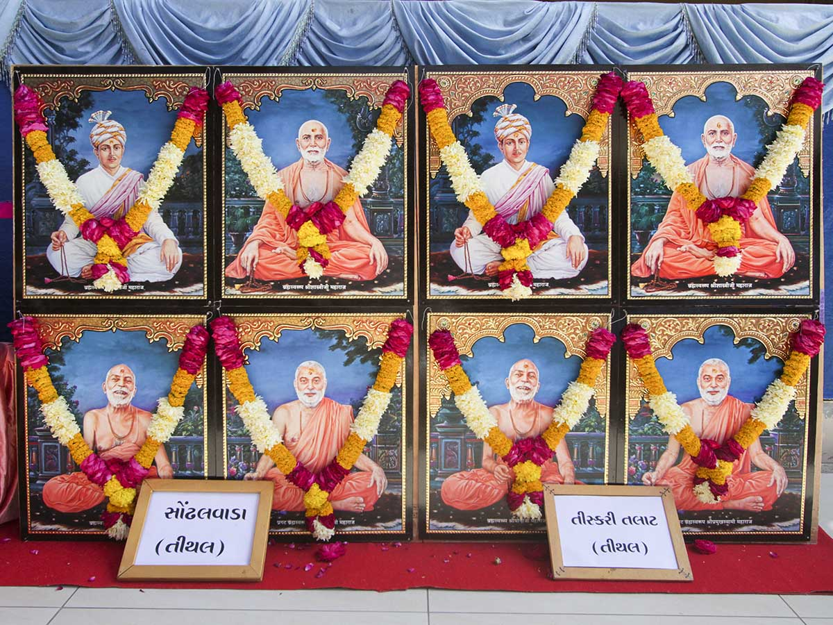 Murtis to be consecrated for BAPS Shri Swaminarayan Mandirs, Sondhalvada, Tiskari Talat (Tithal), India