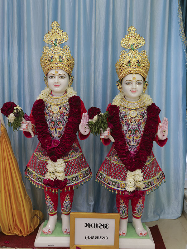 New murtis to be consecrated at BAPS Shri Swaminarayan Mandir, Gavasad, India