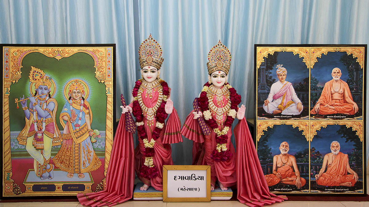 Murtis to be consecrated at BAPS Shri Swaminarayan Mandir, Dagavadia, Mahesana, India