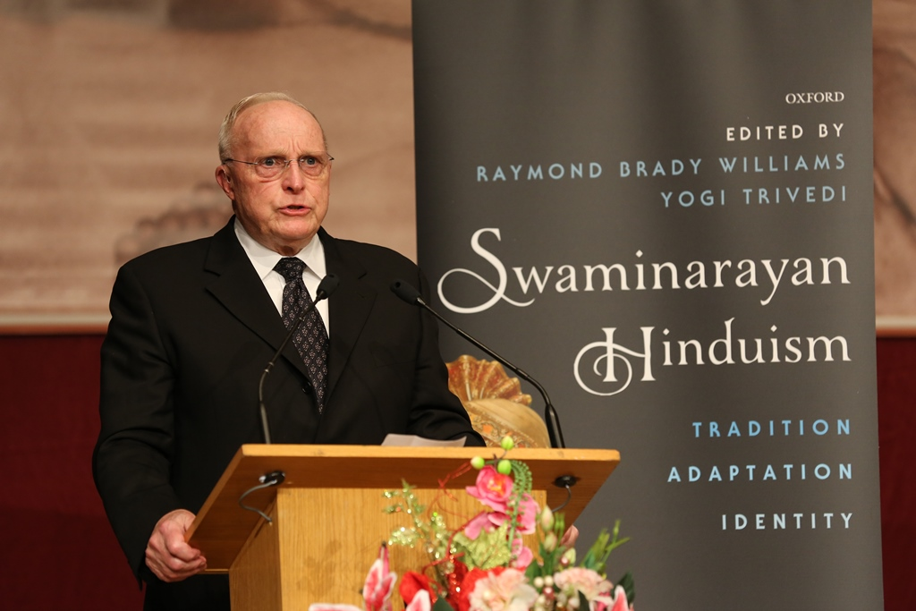 Professor Raymond Brady Williams, Wabash College, Indiana, USA, and co-editor of 'Swaminarayan Hinduism'