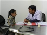 Students being counseled by Doctor
