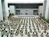 Students during morning Guru punam assembly.