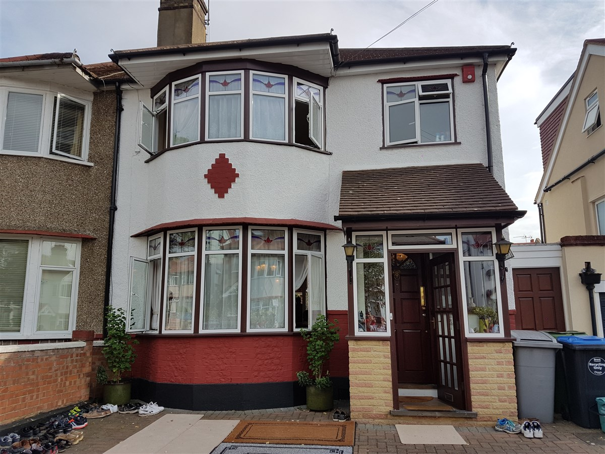 69 Ellesmere Road, Dollis Hill, London, where Yogiji Maharaj stayed during his visit in 1970