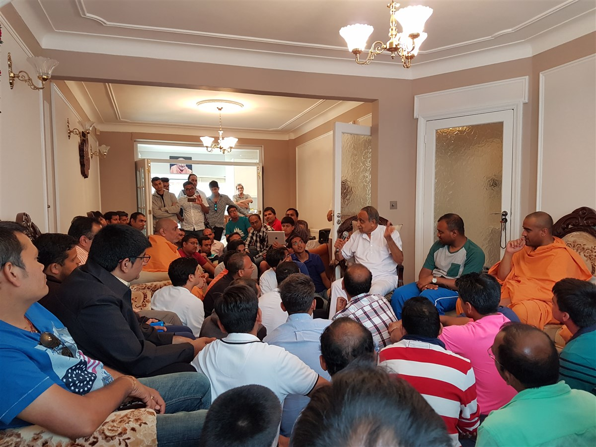 Arvindbhai Patel, who still lives at the same sanctified house, shares priceless memories of Yogiji Maharaj's stay