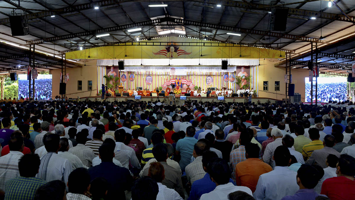 HH Pramukh Swami Maharaj tribute assembly, 28 Aug 2016