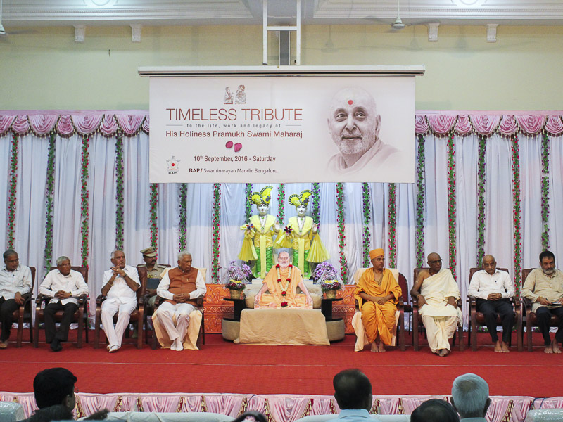 Tribute Assembly in Honor of HH Pramukh Swami Maharaj, Bangalore