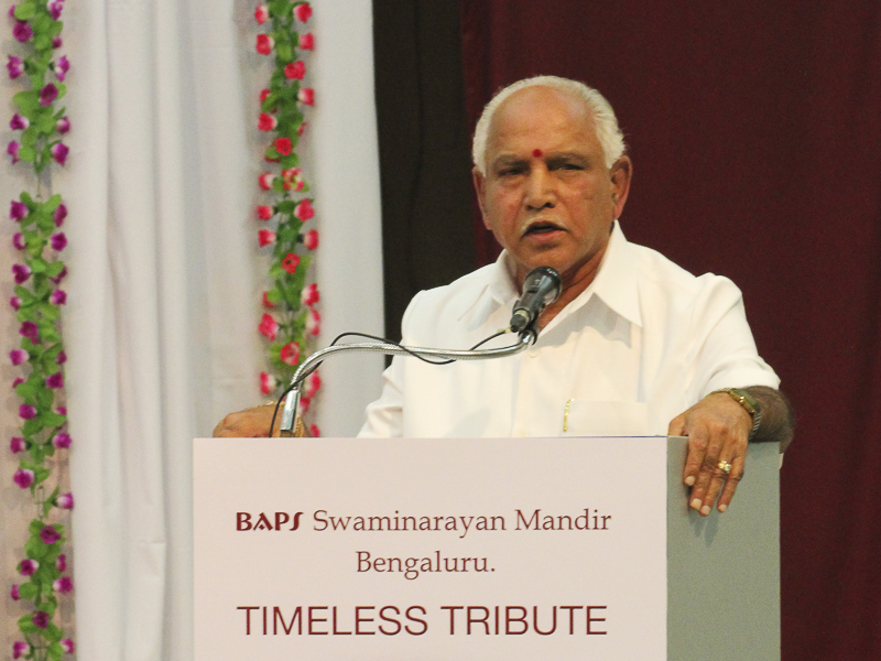Shri Yediyurappa addresses the assembly