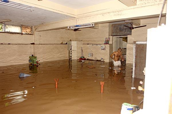 Flood Water, Damage, Food Preperation and Distribution -