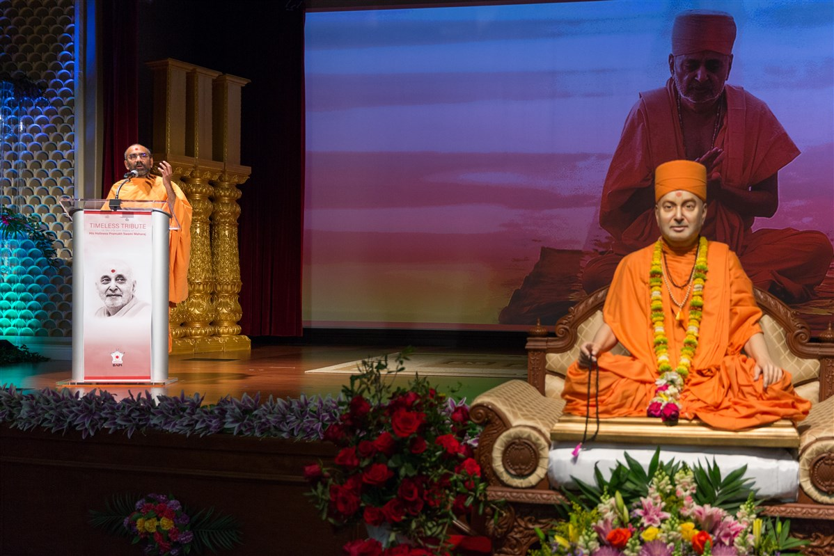 Pujya Chaitanyamurti Swami shares the inspirational and compassionate life of HH Pramukh Swami Maharaj.