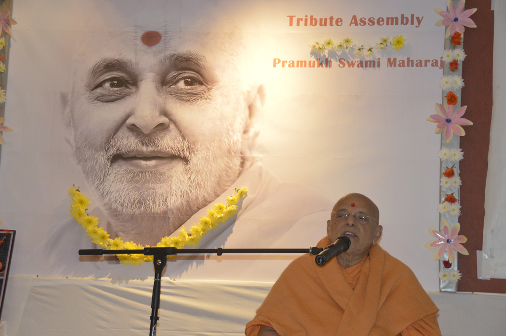 Tribute Assembly in Honour of HH Pramukh Swami Maharaj, Dublin, Ireland