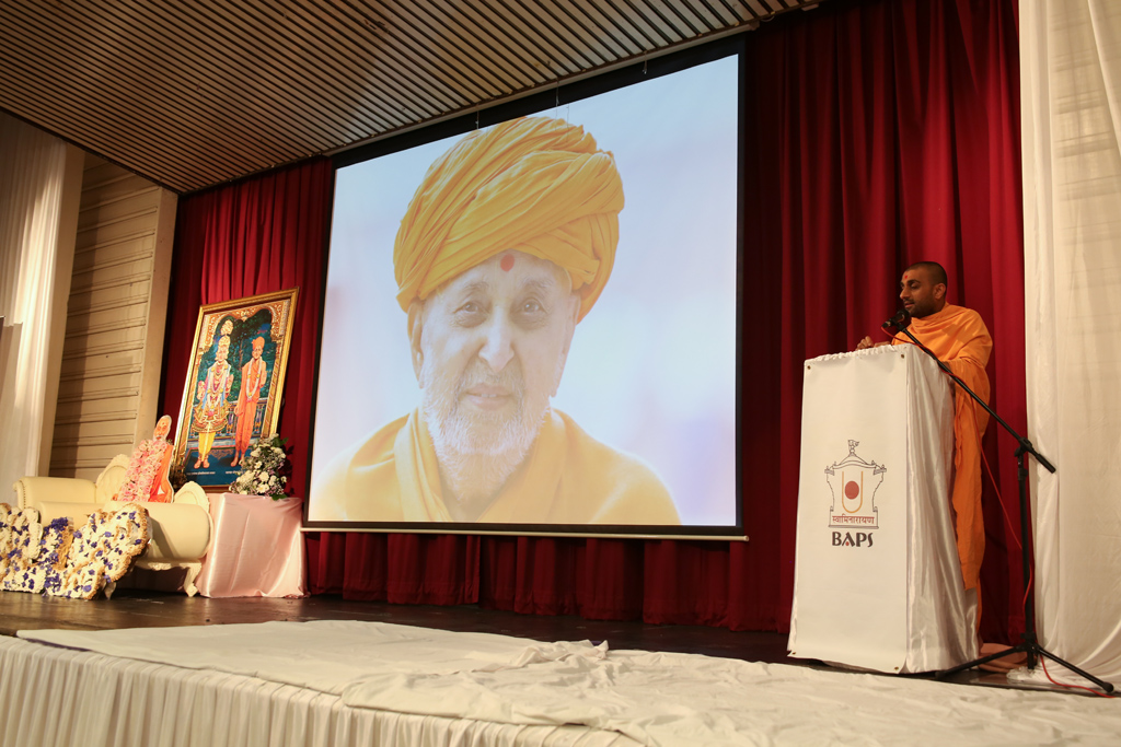 Tribute Assembly in Honour of HH Pramukh Swami Maharaj, South London, UK