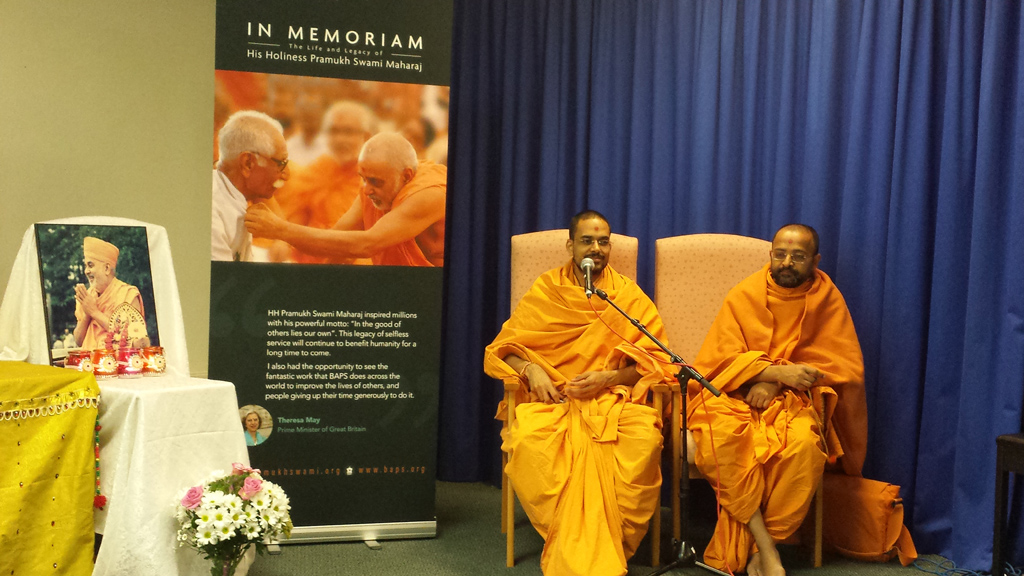 Tribute Assembly in Honour of HH Pramukh Swami Maharaj, Harlow, UK