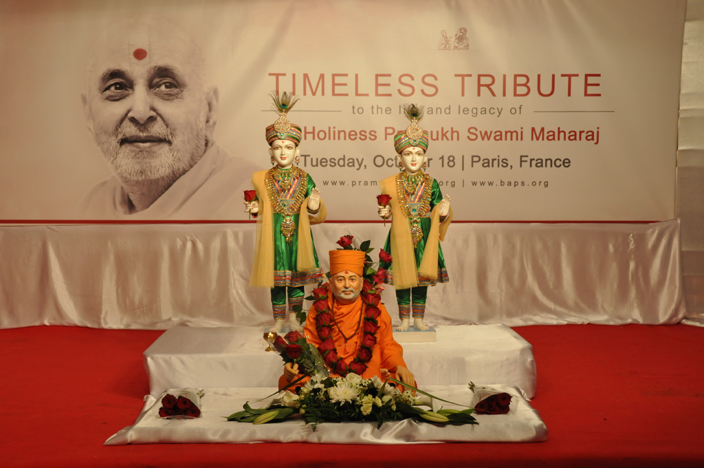 Tribute Assembly in Honour of HH Pramukh Swami Maharaj, Paris, France