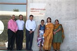 Smt. Kalpana Morparia with the officials of school - Director Dr. Neeta Shah, Director Sh. Rajendrabhai Dave, Sh. Rajanbhai Mehta and Trustee Sh. Kiran Pithwa