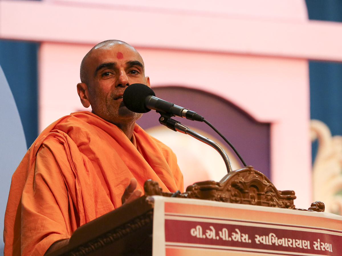 Anandswarup Swami addresses the assembly, 11 Feb 2017