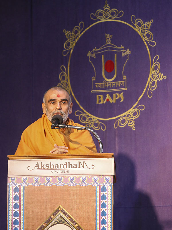 Anandswarup Swami addresses the assembly, 23 Feb 2017