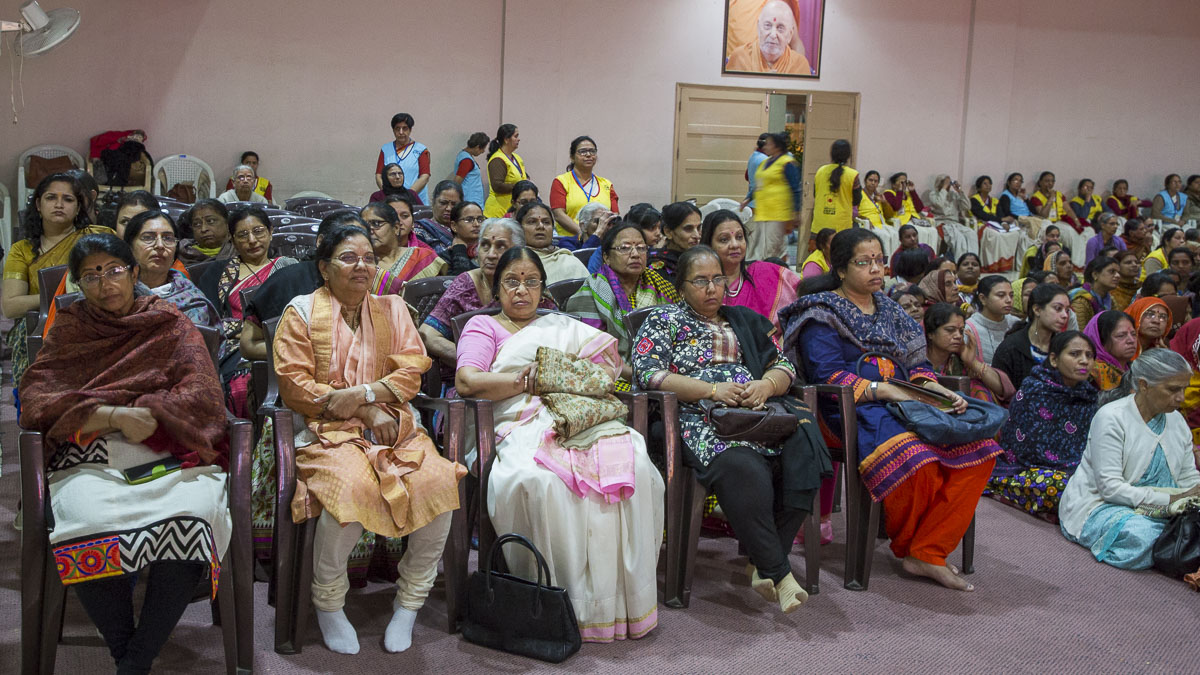 Devotees seated in the seminar, 24 Feb 2017
