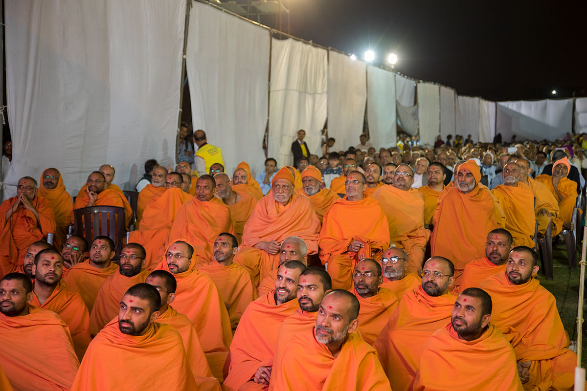 Sadhus during the assembly, 3 March 2017