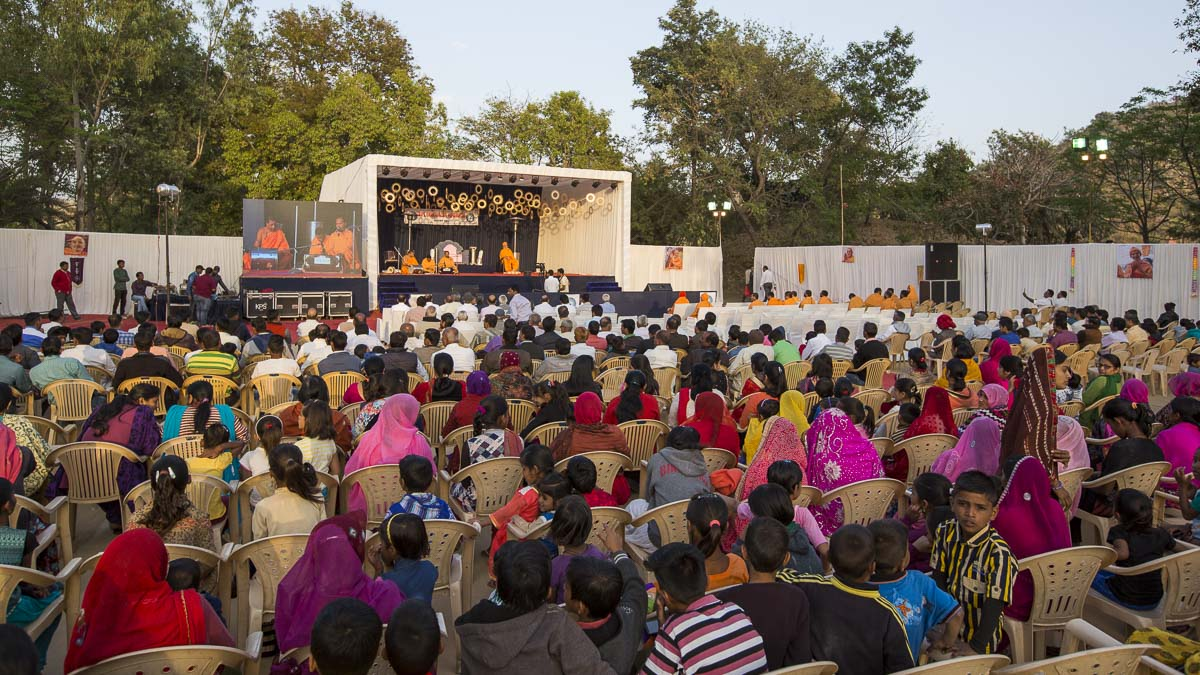 Evening satsang assembly for devotees and well-wishers of Mt. Abu, 8 Mar 2017