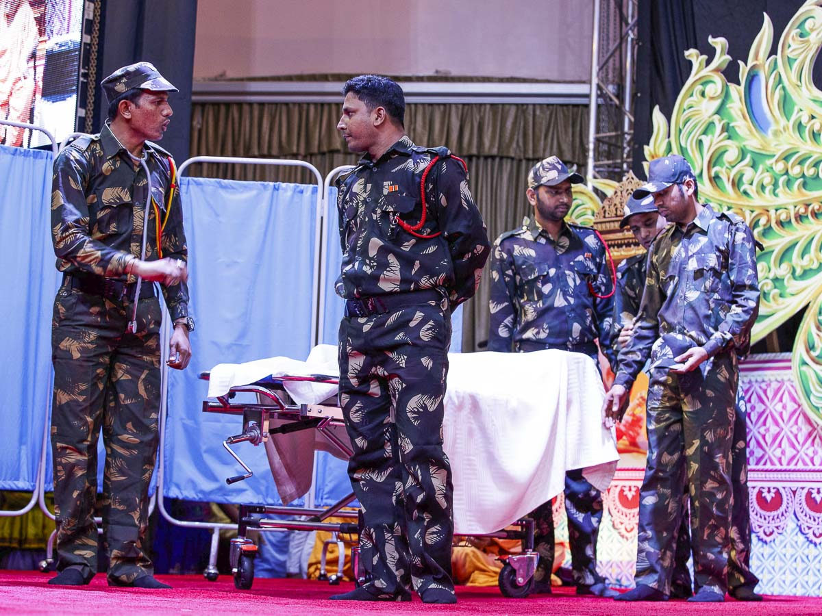 A drama presentation by youths, 8 Apr 2017