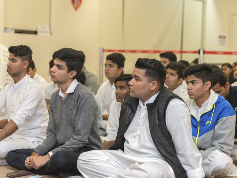 Youths during the assembly