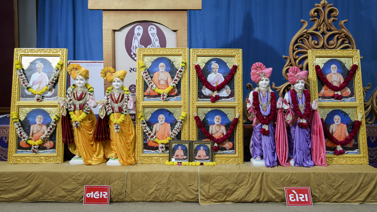 Murtis to be consecrated for new BAPS Shri Swaminarayan Mandirs in Nahar and Dora, 2 June 2017