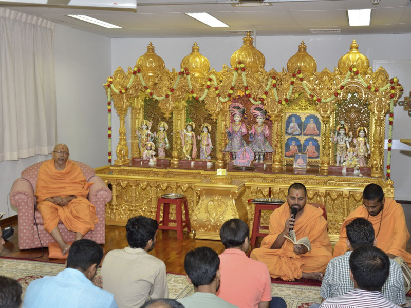 Satsang assembly at Singapore Mandir