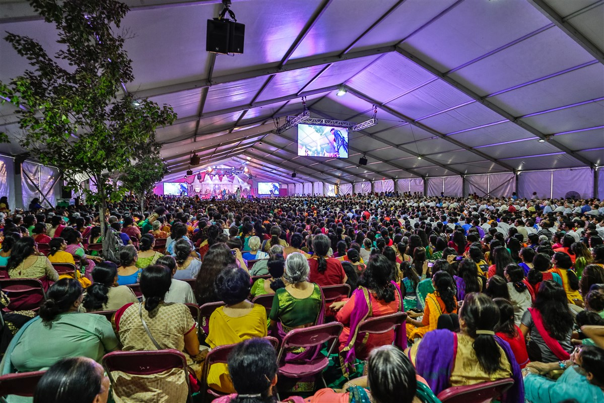 Devotees engaged in the celebrations
