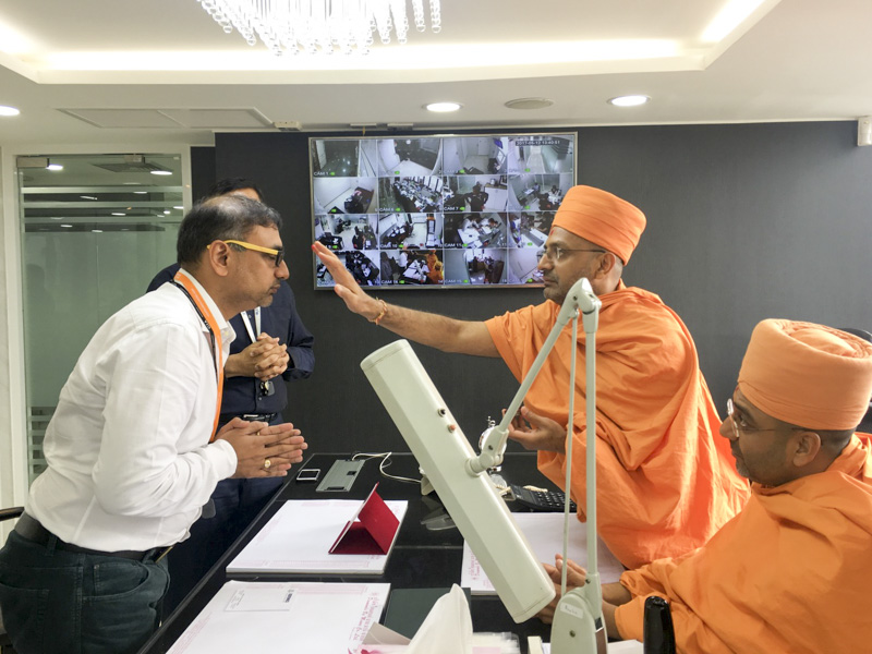 Sadhus visit well-wisher's office
