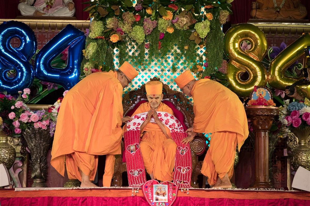 his holiness mahant swami maharaj u2019s 84th birthday