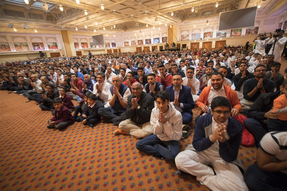 Hundreds of devotees had gathered from around the UK in the early hours of the morning