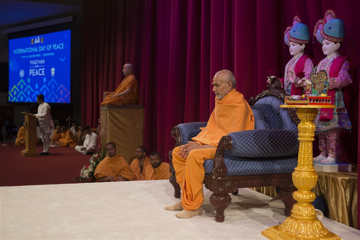 "For a detailed report with photographs of BAPS's observance of International Peace Day in London in the presence of His Holines Mahant Swami Maharaj, please click <a href=""http://www.baps.org/News/2017/Observing-International-Peace-Day-12053.aspx"" target=""blank"" style=""text-decoration:underline; color:blue;"">here</a>"