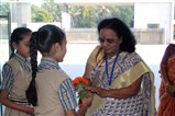 Smt. Ranjana Argade being welcomed at school