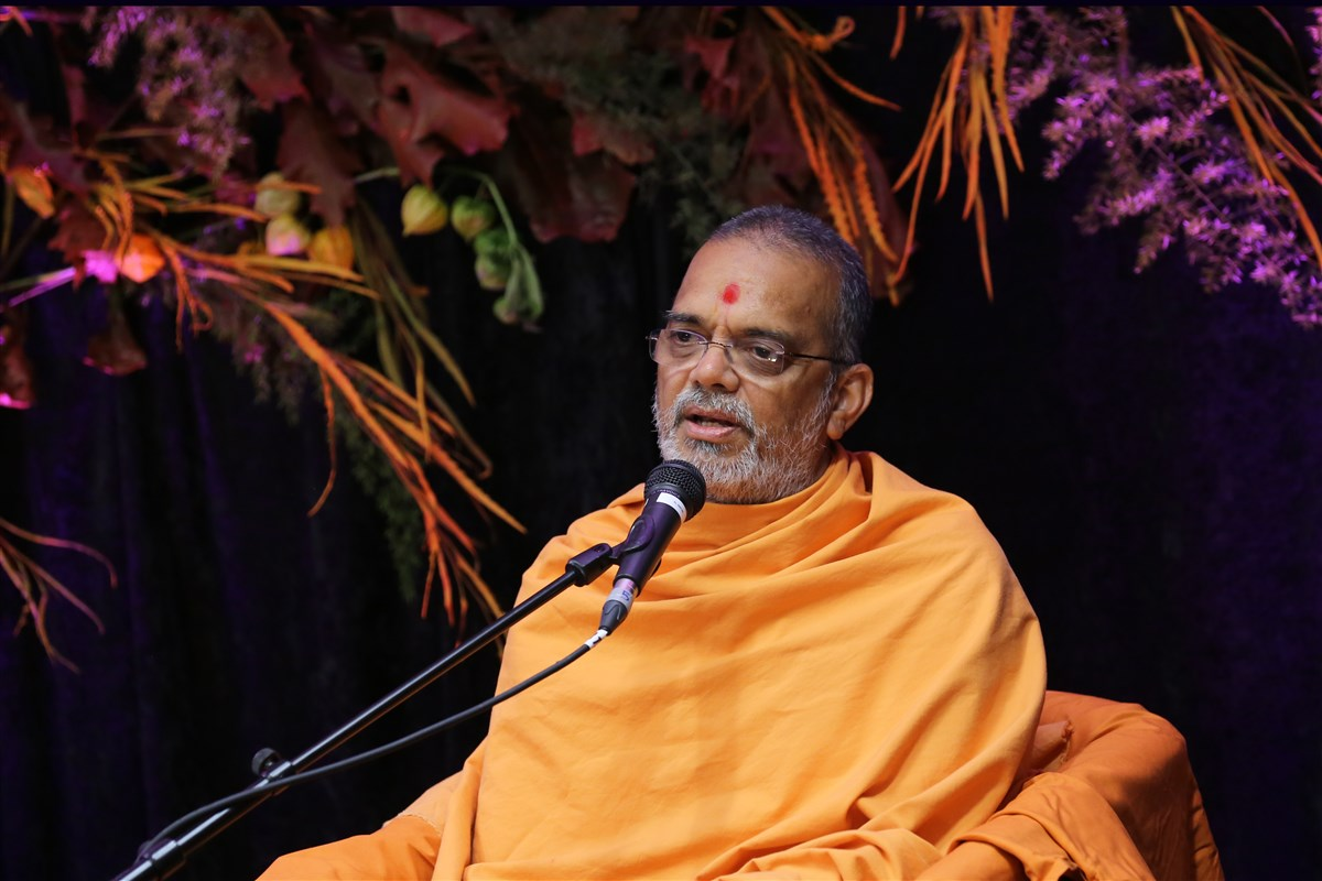 Narayanmunidas Swami addressed the assembly