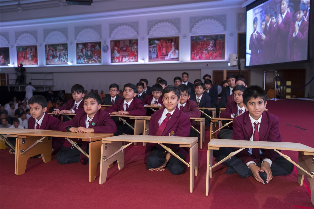 Pupils from the Preparatory and Senior School participate in the presentations
