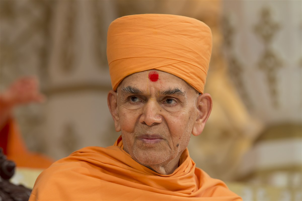 Swamishri watches on approvingly